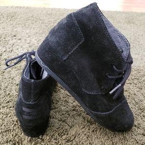Girls Toms Suede Black Booties - Size 2